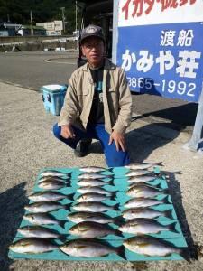 ヒラバエで20匹オーバーのイサキ、カゴ釣りでの釣果