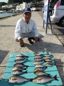 ヒラバエ カゴ釣りでイサギの釣果 ジャンボ級も