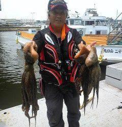 沖一文字1番でタコ1~1.8キロの釣果