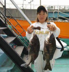 岸和田一文字 落とし込みで良型チヌが釣れています
