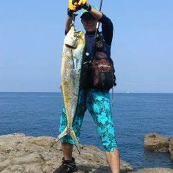小浦にて今年初メーターシイラ釣れました♪