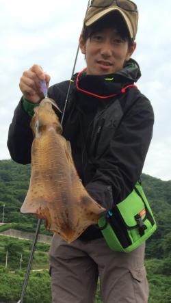 下津でエギング〜潮が動き始めた所で1400gのアオリイカ