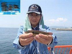 平磯海づり公園、投げ釣りでベラにアイナメ