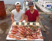 黒島の磯でガシラ72匹とカワハギの釣果