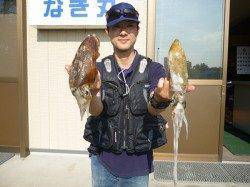 湯浅の磯のアオリイカ〜ヤエン・エギングどちらも釣果あり