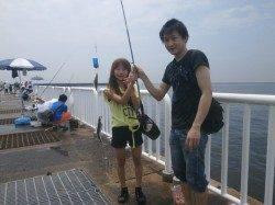 大阪南港魚つり園 サビキ釣りでは大きな群れがきてアジ・サバ好釣