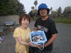 大阪南港魚つり園 ファミリーサビキでサバ・アジ・サッパ