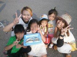 大阪南港魚つり園、サビキでアジ・サッパがパラパラと