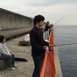 須磨海づり公園 胴突仕掛で探ってアイナメ・ガシラ