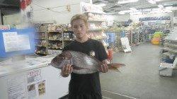 みなべ沖磯大島にて夜釣りでマダイ70.5cm&コロダイ40cm