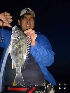 武庫川河口でチニング バイブレーションにHIT