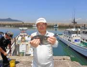 黒島の磯の上物釣果〜ナイスサイズのグレをキャッチ