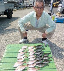 神谷一文字 チャリコと小グレが数釣れました