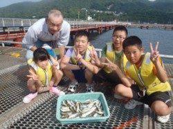須磨海づり公園 アジのサビキ釣りで楽しい夏休み