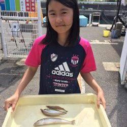 マリーナシティ海釣り公園 釣れたキスは天ぷらで頂きます♪