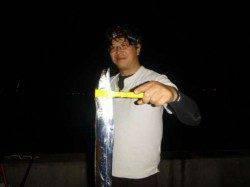 兵庫突堤2突にて浮き釣りでタチウオ&ぶっこみで穴子