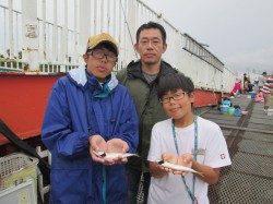 尼崎市魚つり公園 昼から豆アジが入れ喰い状態