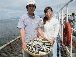 尼崎市魚つり公園、サビキでアジ200匹にサバ150匹☆