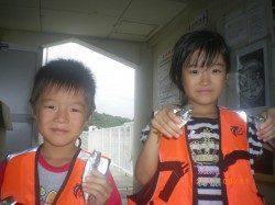 姫路市立遊漁センター お子様がサビキでアジ・イワシ