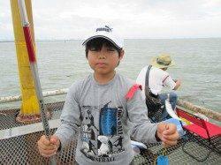 尼崎市立魚つり公園 ご夫妻でアジが200匹とサッパを30匹