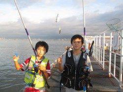 尼崎市立魚つり公園のサビキアジ好調、嬉しい外道でサヨリも