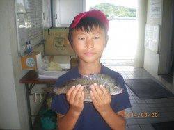 姫路市立遊漁センターにてチヌの釣果