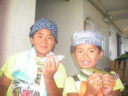 姫路市立遊漁センター アジ・ベラの釣果