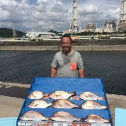 マリーナシティ海洋釣り堀 タイが入れ食いでした☆