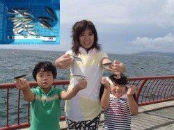 神戸市立平磯海づり公園 ファミリーでのサビキ釣果