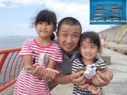神戸市立平磯海づり公園 キッズも楽しめる投げ釣りの釣果