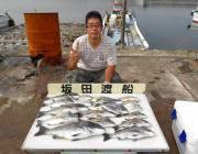 湾内の筏でチヌ好釣果! 48cm頭に12尾