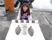 黒島の筏 のませでヒラメ〜38cm2尾
