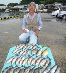 沖一文字内向きにてイサギ数釣り、ほか魚種多彩な釣果