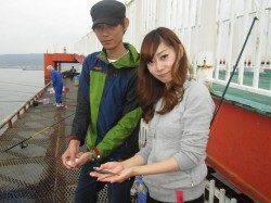 連玉ウキでサヨリ30匹 尼崎市立魚つり公園