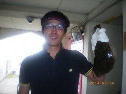 姫路市立遊漁センター アジをエサにヒラメの釣果