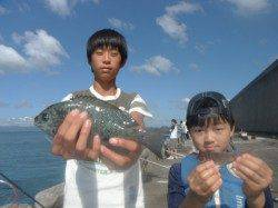 北港釣り公園 カワハギ・タチウオ・グレなどの釣果