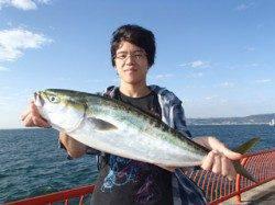 平磯海づり公園でルアー釣り メジロ62cm