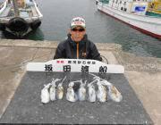 黒島の磯 エギングでのアオリイカの釣果
