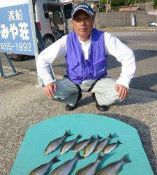 神谷一文字 カゴ釣りでイサギの釣果