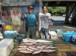 釣り堀で青物&鯛が大漁です♫田井観光フィッシング