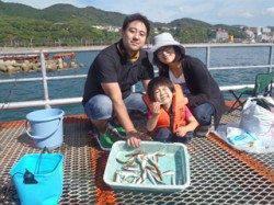 須磨海釣り公園 サビキでアジ・イサキ・イワシの釣果