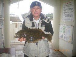 姫路市立遊漁センター ウキ釣りアコウ&ヒラメの美味しい釣果