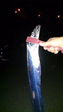 岸和田 タチウオのウキ釣りでメーターオーバー出た