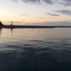 香住東港 のべ竿でサヨリ・アジ ウキ下が深くウキでアタリとりました