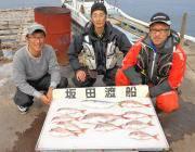 黒島の筏でマダイとハマチの釣果