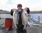 黒島の筏 コロダイ大物を2匹!