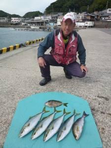 ヒラバエでカゴ釣り 青物好釣!