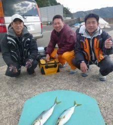 神谷一文字 かご釣りでハマチの釣果、バラシもありました