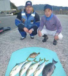 ヒラバエのカゴ釣りでグレ40cmなど☆ 神谷崎ではフカセでコロダイ