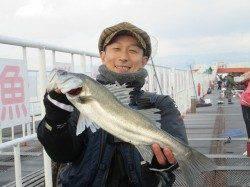 尼崎市立魚つり公園 エビ撒きシーズンの到来、これからは大物の期待も十分
